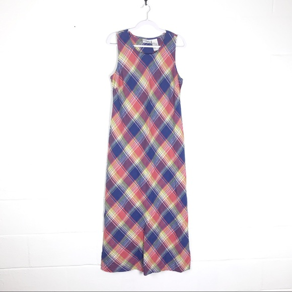 studio ease Dresses & Skirts - Studio Ease madras plaid sundress maxi sz 16